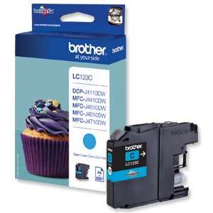 Brother LC123C eredeti tintapatron